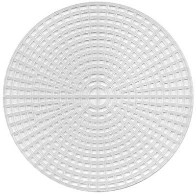 plastic canvas shape circles 6 inches clear