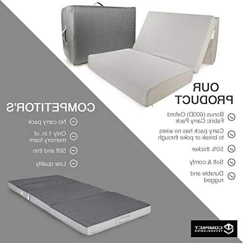 Portable Twin Guest Bed w/Case | Away Floor, Fast Sleep