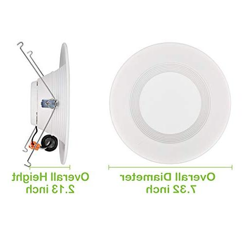 Hykolity Pack Inch Recessed Light, 15W 1050LM Recessed Can Downlight, 4000K Star, 65W Replacement