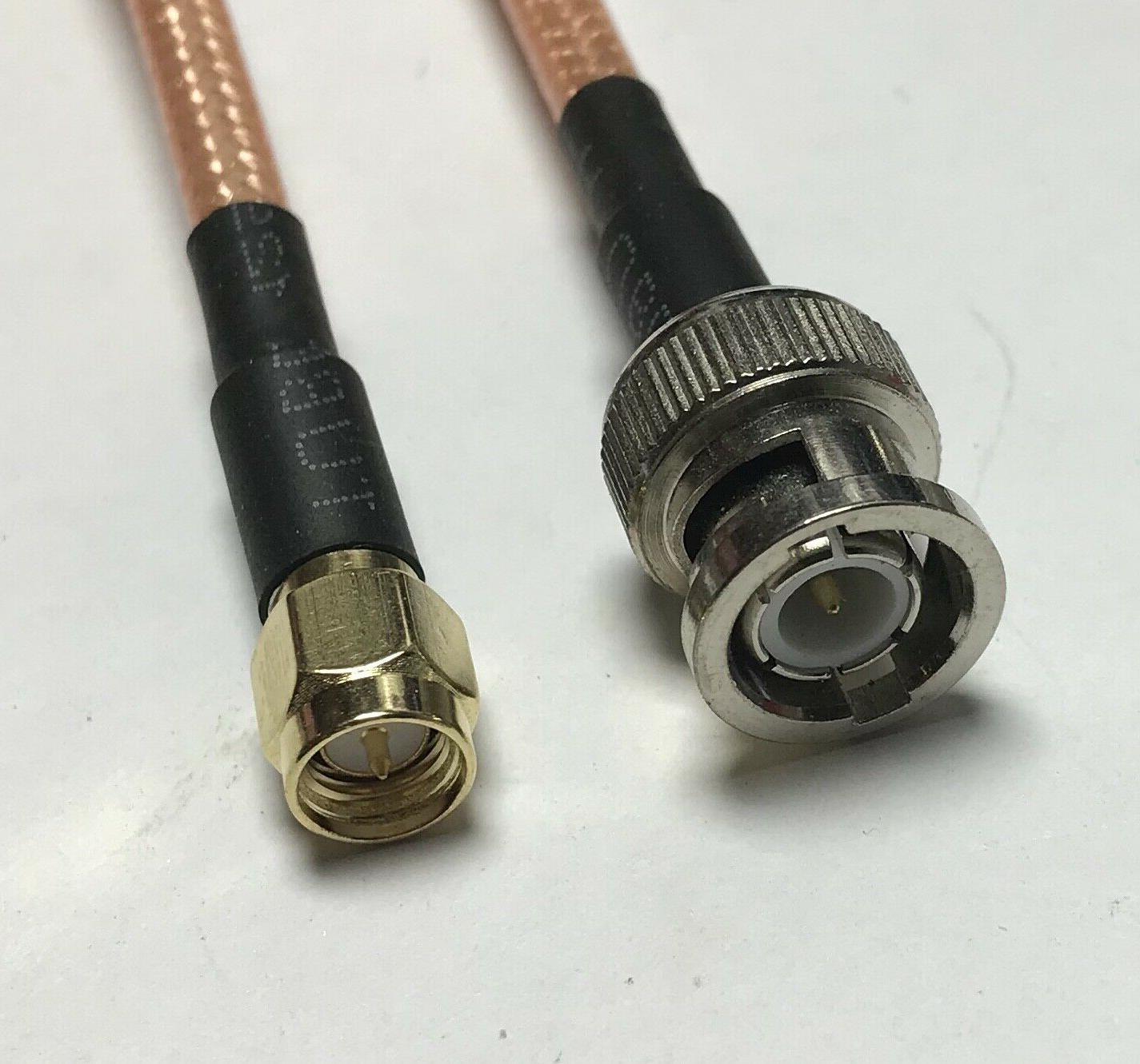 rg400 bnc male to sma male double