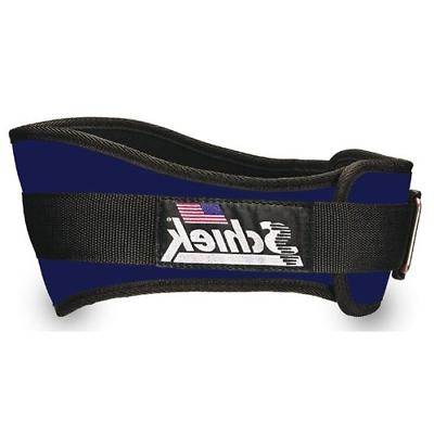 SCHIEK NYLON LIFTING BELT-6 INCH LIGHT NAVY SMALL