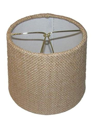 Upgradelights Six Inch of Drum Style Chandelier Lamp Mini Shade Natural Fabric