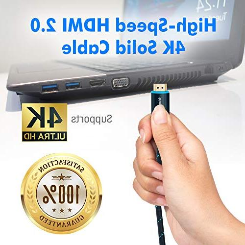 Maximm High-Speed HDMI 2.0 4K Braided Cable, 1