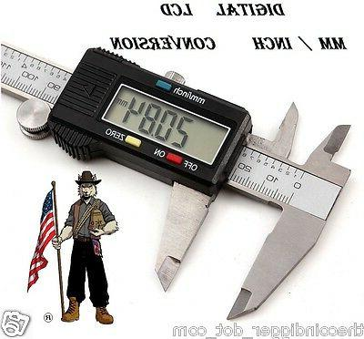 Stainless Digital Caliper Coin Jewelry Ring Electronic 6""