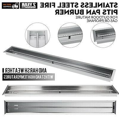stainless steel linear trough drop in fire