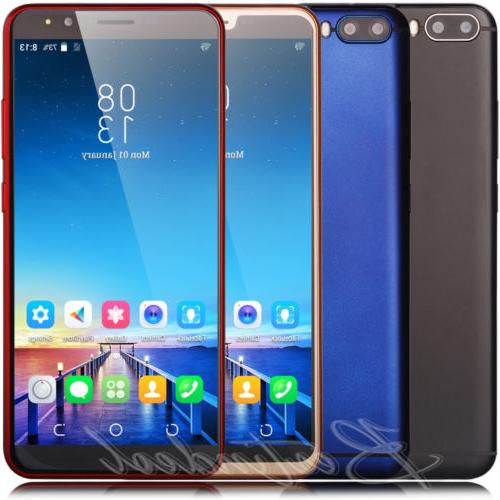 Unlocked 6 Inch Android 7.0 Cell Phone Dual SIM 3G GPS WIFI