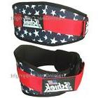"Schiek Weight Lifting Belt 2006 6"" Stars & Stripes US Flag L"