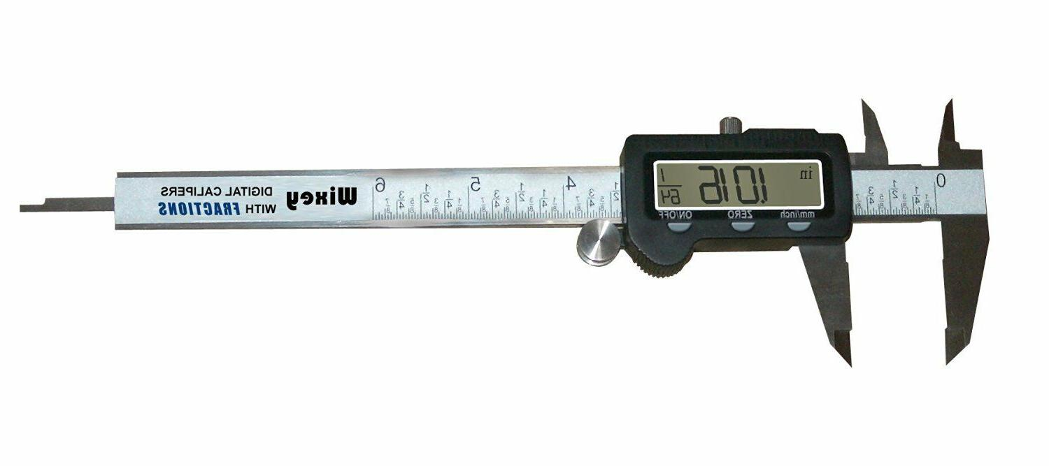 wr100 6 inch digital calipers with fractions