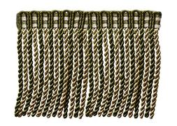 6 Inch Long Bullion Fringe Trim, Style# DB6 - Olive Green, L