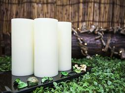 Lyra Candle, Flameless LED Ivory Round Candles with Remote,
