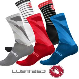 Castelli Men's Socks 6 Different Styles and Colors : FREE SH