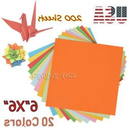 New Double Sided Origami Paper 20 Vibrant Colors 200 Sheets