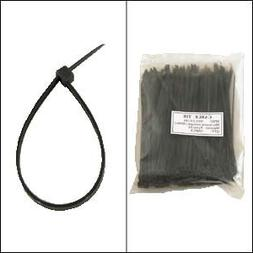 "GadKo 6"" Nylon Cable Tie 40lbs Black 100pk"