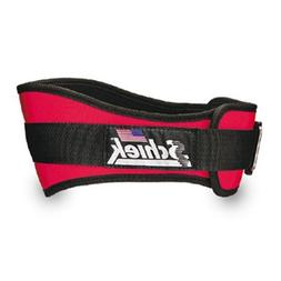 SCHIEK NYLON LIFTING BELT-6 INCH RED MEDIUM