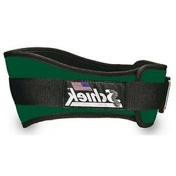 SCHIEK NYLON LIFTING BELT-6 INCH FOREST GREEN SMALL