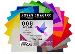 Origami Paper 500 Sheets, Premium Quality for Arts and Craft