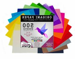 20 Colors 500 Sheets Double Sided, 6x6 Inch, Origami Paper f