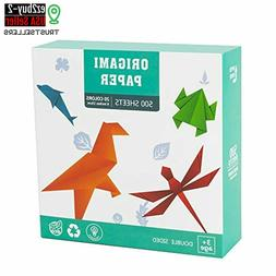 Origami Paper 6 Inches Square 500 Sheets 20 Vivid Colors Dou