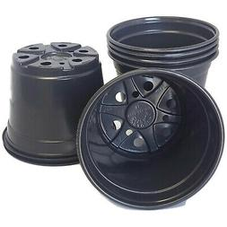 6 inch Round Black Plastic Pots - SET OF 50 -   flower pot N