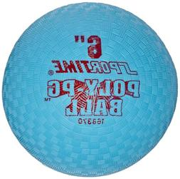 Sportime Poly Playground Ball - 6 inch - Blue