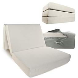 Portable Mattress - Folding Twin XL Memory Foam Guest Fold U
