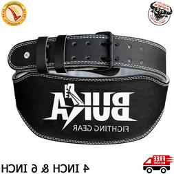 "Quality Weight Lifting Belt 4"" and 6"" Weight Lifting Back Su"