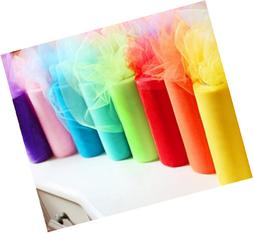 Charmed Rainbow color tulle assortment, 6 inch by 25 yard sp