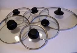 Replacement Glass & Stainless Steel Rim Lids 4 5 6 7 8 9 10