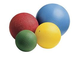 Sportime Rubber Playground Balls, Assorted Sizes and Colors,