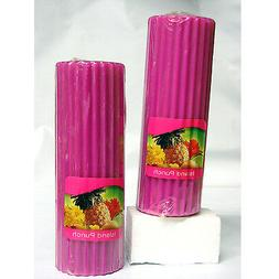 6 Ct. Island Punch Scented Candles Pink 6 Inch Pillar Set By