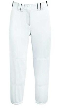 Mizuno Women's Select BELTED Low Rise Fastpitch Pant White S