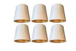 Upgradelights Set of 6 White with Gold 6 Inch Clip On Chande