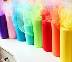 Ship From USA Rainbow Color Tulle Assortment, 6 inch by 25 Y