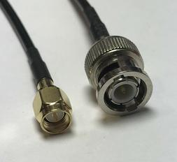 SMA Male to BNC Male RG174 Coaxial Cable Pick Your Length US