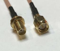 SMA MALE to SMA Female Coaxial Cable RG316 USA Pick Your Len