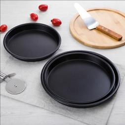 Stainless Steel Round Cake Pan Muffin Chocolate Pizza Baking