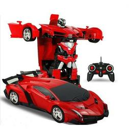 Best Choice Products Kids Toy Transformer RC Robot Car Remot
