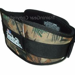 "Schiek Weight Lifting Belt 2006 6"" Camo Fitness Workout Trai"