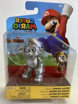 "World of Nintendo Metal Mario 4"" Figure by Jakks Series 2-"